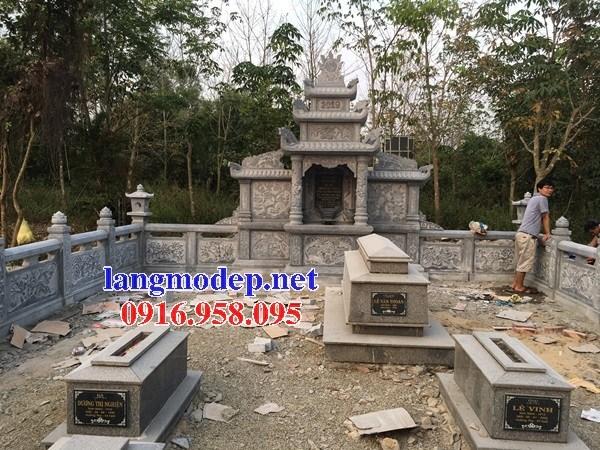 95 Mẫu lăng thờ chung khu lăng mộ gia đình dòng họ bằng đá đẹp bán tại Sóc Trăng