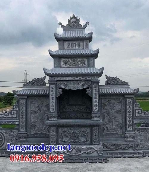 95 Mẫu lăng thờ chung khu lăng mộ gia đình dòng họ bằng đá chạm khắc hoa văn đẹp bán tại Sóc Trăng