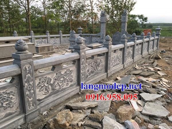 95 Mẫu lan can hàng rào khu lăng mộ nghĩa trang gia đình dòng họ bằng đá chạm khắc hoa văn đẹp bán tại Sóc Trăng