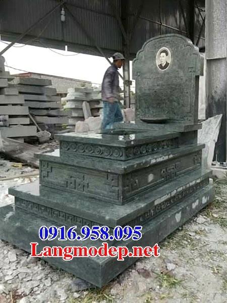 95 Mẫu mộ đá xanh rêu nguyên khối đẹp bán tại Sóc Trăng