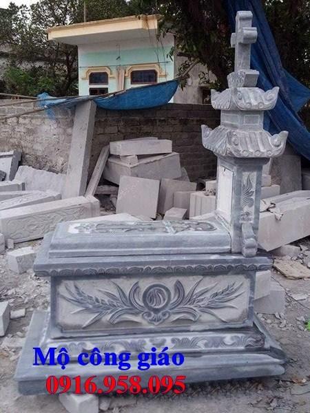 95 Mẫu mộ đạo thiên chúa công giáo bằng đá mỹ nghệ Ninh Bình đẹp bán tại Sóc Trăng