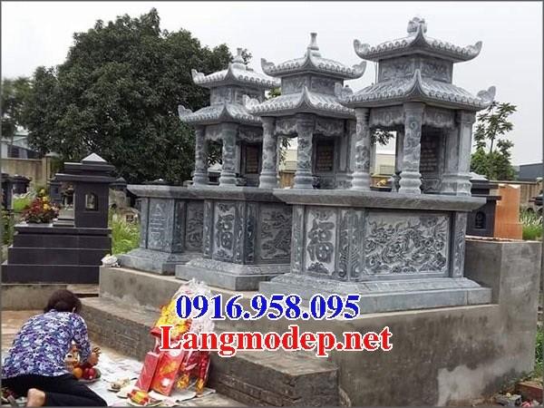 95 Mẫu mộ hai mái bằng đá điêu khắc tinh xảo đẹp bán tại Sóc Trăng