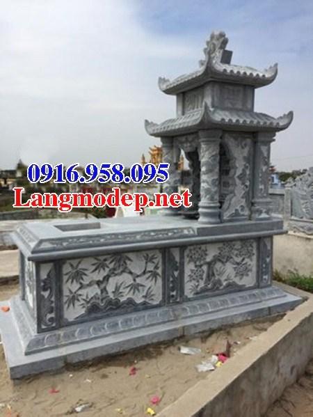 95 Mẫu mộ hai mái bằng đá chạm khắc hoa văn đẹp bán tại Sóc Trăng