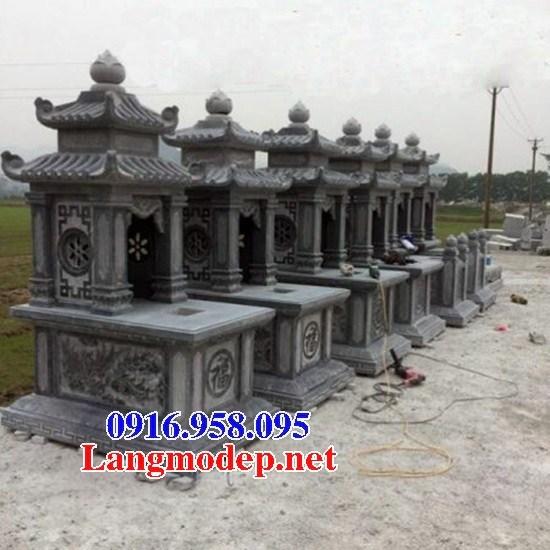 95 Mẫu mộ hai mái cất để tro cốt hỏa táng bằng đá đẹp bán tại Sóc Trăng