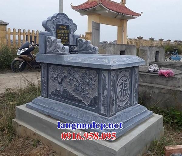95 Mẫu mộ không mái bằng đá chạm khắc hoa văn đẹp bán tại Sóc Trăng