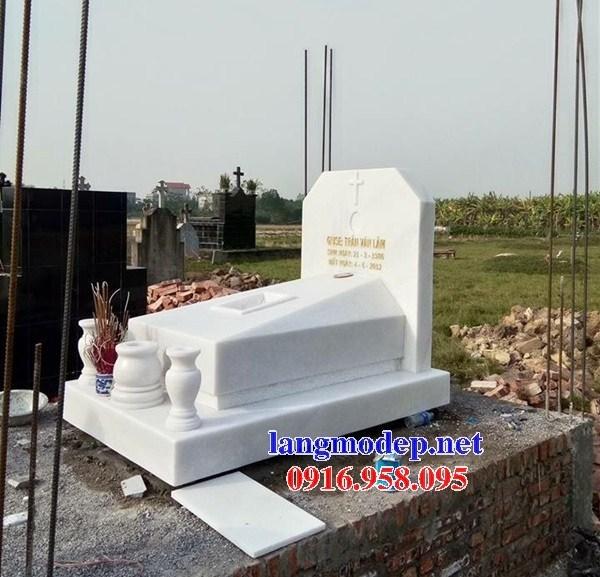95 Mẫu mộ không mái bằng đá trắng tự nhiên đẹp bán tại Sóc Trăng