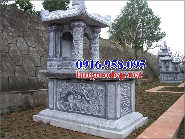 95 Mẫu mộ một mái bằng đá chạm khắc hoa văn đẹp bán tại Sóc Trăng