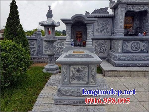 95 Mẫu mộ một mái bằng đá xanh Thanh Hóa đẹp bán tại Sóc Trăng