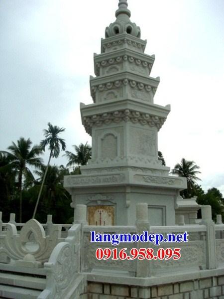 95 Mẫu mộ tháp bằng đá trắng cao cấp đẹp bán tại Sóc Trăng