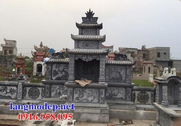 82 Mẫu cây hương thờ chung khu lăng mộ gia đình dòng họ bằng đá chạm khắc hoa văn đẹp bán tại Bắc Kạn