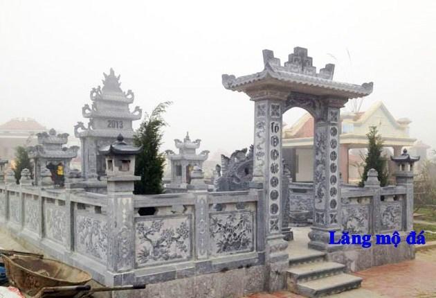 82 Mẫu cổng khu lăng mộ nghĩa trang gia đình dòng họ bằng đá thiết kế hiện đại đẹp bán tại Bắc Kạn