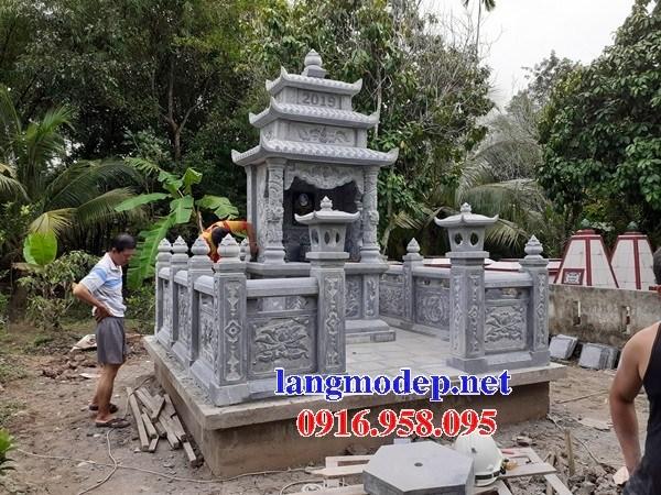 82 Mẫu khu lăng mộ nghĩa trang gia đình dòng họ bằng đá xanh Thanh Hóa đẹp bán tại Bắc Kạn