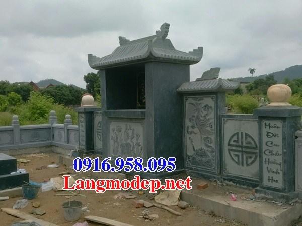 82 Mẫu mộ đá xanh rêu đẹp bán tại Bắc Kạn