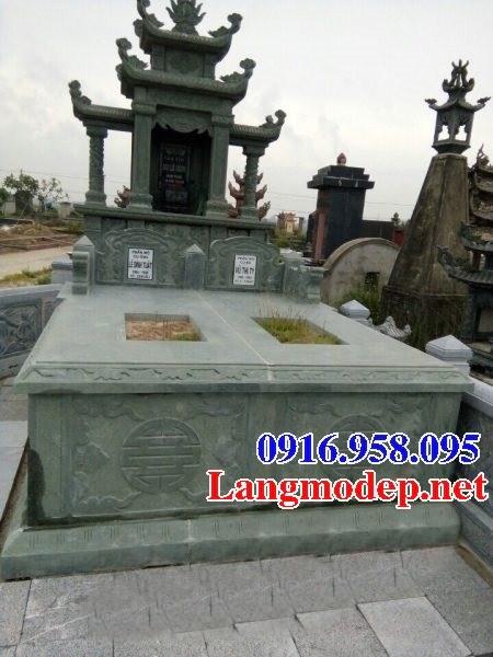 82 Mẫu mộ đôi gia đình bằng đá xanh rêu đẹp bán tại Bắc Kạn