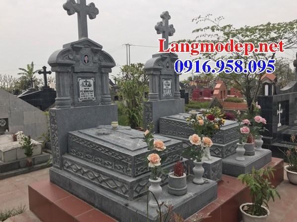82 Mẫu mộ đạo thiên chúa công giáo cất để tro cốt hỏa táng bằng đá đẹp bán tại Bắc Kạn