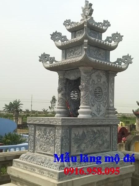 82 Mẫu mộ ba mái bằng đá mỹ nghệ Ninh Bình đẹp bán tại Bắc Kạn