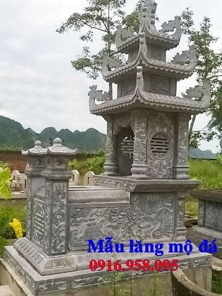 82 Mẫu mộ ba mái bằng đá xanh Thanh Hóa đẹp bán tại Bắc Kạn