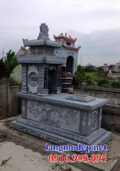 82 Mẫu mộ hai mái bằng đá chạm khắc hoa văn đẹp bán tại Bắc Kạn