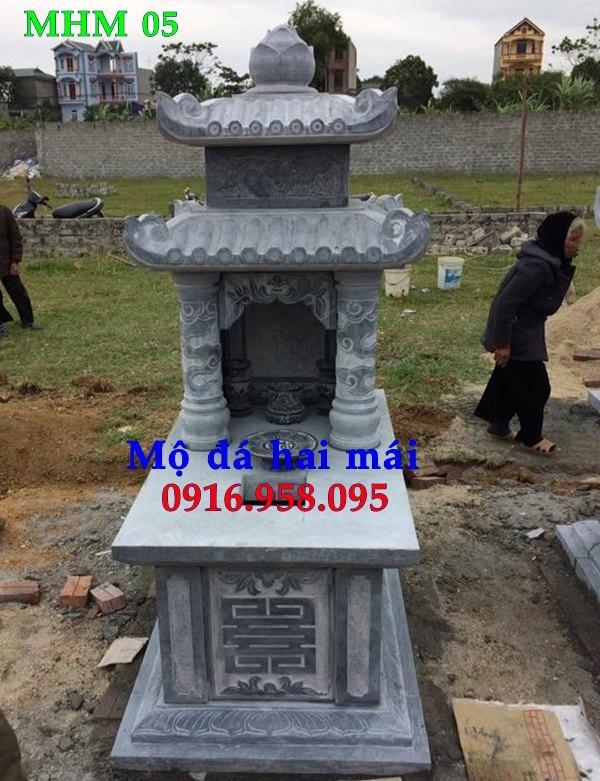 82 Mẫu mộ hai mái bằng đá xanh Thanh Hóa đẹp bán tại Bắc Kạn