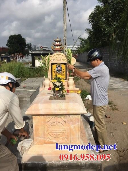 82 Mẫu mộ không mái bằng đá vàng cao cấp đẹp bán tại Bắc Kạn