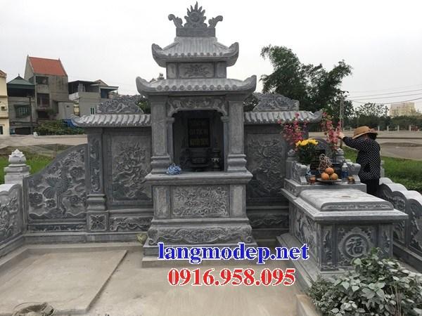 82 Mẫu mộ không mái bằng đá xanh Thanh Hóa đẹp bán tại Bắc Kạn