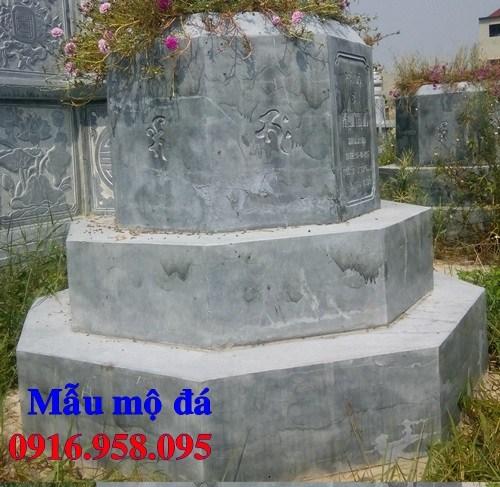 82 Mẫu mộ lục lăng bát giác bằng đá tự nhiên nguyên khối đẹp bán tại Bắc Kạn