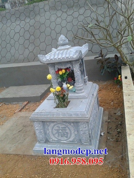 82 Mẫu mộ một mái bằng đá tự nhiên nguyên khối đẹp bán tại Bắc Kạn