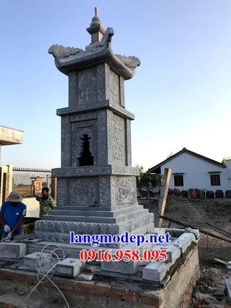 82 Mẫu mộ tháp bằng đá chạm khắc hoa văn đẹp bán tại Bắc Kạn