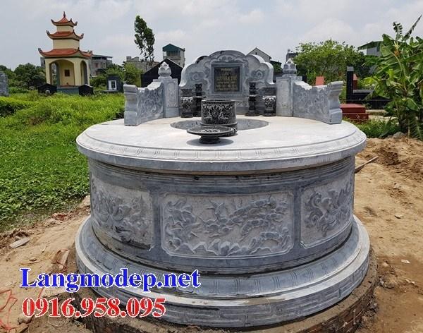 82 Mẫu mộ tròn bằng đá chạm khắc hoa văn đẹp bán tại Bắc Kạn