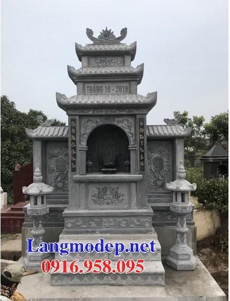 82 Mẫu miếu thờ chung khu lăng mộ gia đình dòng họ bằng đá đẹp bán tại Bắc Kạn