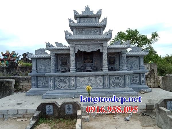 93 Mẫu cây hương thờ chung khu lăng mộ gia đình dòng họ bằng đá thiết kế đẹp bán tại Ninh Bình