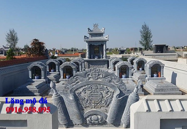 93 Mẫu cuốn thư bức bình phong khu lăng mộ nghĩa trang gia đình dòng họ bằng đá chạm khắc hoa văn đẹp bán tại Ninh Bình