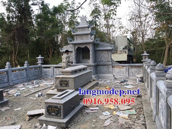 93 Mẫu khu lăng mộ nghĩa trang gia đình dòng họ bằng đá đẹp bán tại Ninh Bình