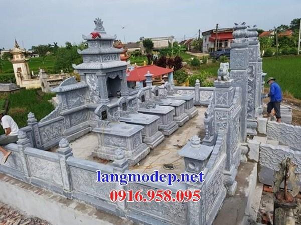 93 Mẫu khu lăng mộ nghĩa trang gia đình dòng họ bằng đá điêu khắc tinh xảo đẹp bán tại Ninh Bình