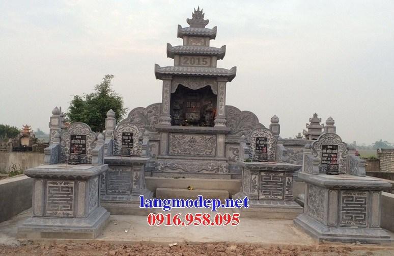 93 Mẫu lăng thờ chung khu lăng mộ gia đình dòng họ bằng đá thiết kế hiện đại đẹp bán tại Ninh Bình
