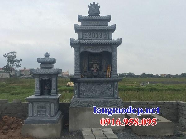 93 Mẫu lăng thờ chung khu lăng mộ gia đình dòng họ bằng đá xanh Thanh Hóa đẹp bán tại Ninh Bình