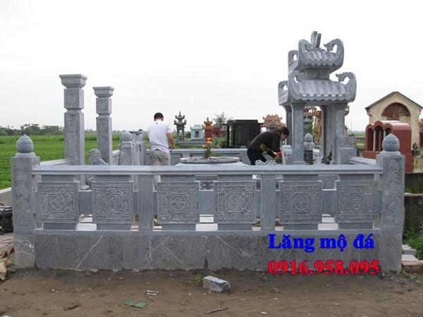 93 Mẫu lan can tường rào khu lăng mộ nghĩa trang gia đình dòng họ bằng đá thiết kế hiện đại đẹp bán tại Ninh Bình