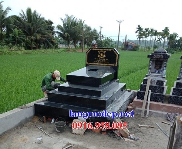 93 Mẫu mộ đá granite nguyên khối đẹp bán tại Ninh Bình