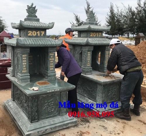 93 Mẫu mộ đá xanh rêu đẹp bán tại Ninh Bình