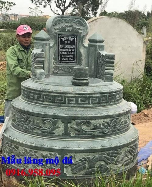 93 Mẫu mộ đá xanh rêu chạm khắc hoa văn đẹp bán tại Ninh Bình