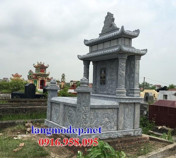 93 Mẫu mộ đôi gia đình bằng đá chạm khắc hoa văn đẹp bán tại Ninh Bình
