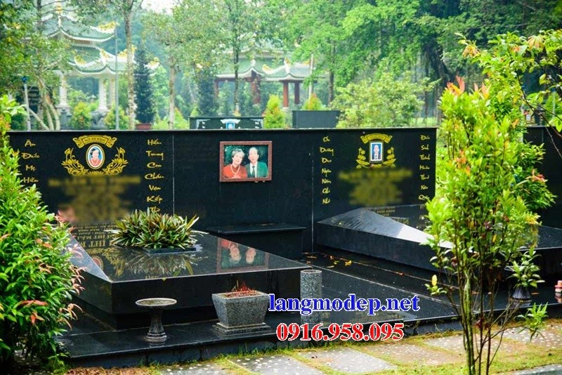 93 Mẫu mộ đôi gia đình bằng đá kim sa Ấn Độ cao cấp đẹp bán tại Ninh Bình