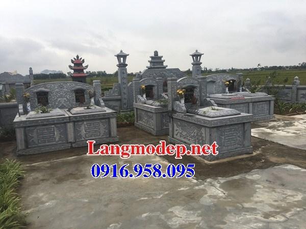 93 Mẫu mộ đôi gia đình bằng đá tự nhiên nguyên khối đẹp bán tại Ninh Bình
