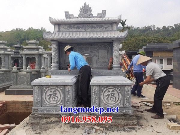 93 Mẫu mộ đôi gia đình bằng đá thiết kế hiện đại đẹp bán tại Ninh Bình