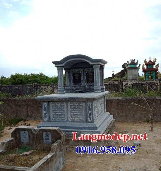 93 Mẫu mộ đôi gia đình bằng đá xanh Thanh Hóa đẹp bán tại Ninh Bình