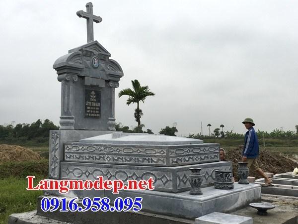 93 Mẫu mộ đạo thiên chúa công giáo cất để tro cốt hỏa táng bằng đá đẹp bán tại Ninh Bình