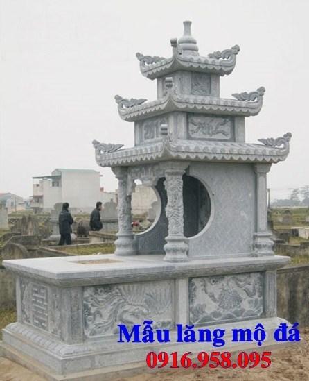 93 Mẫu mộ ba mái bằng đá chạm khắc hoa văn đẹp bán tại Ninh Bình