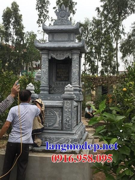 93 Mẫu mộ hai mái bằng đá đẹp bán tại Ninh Bình