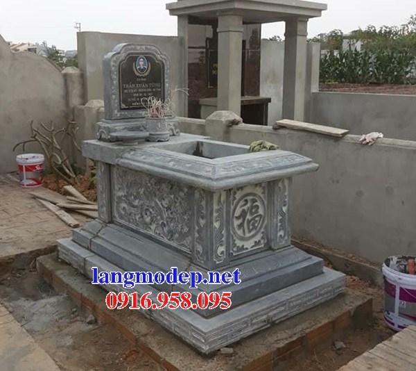 93 Mẫu mộ không mái bằng đá chạm khắc hoa văn đẹp bán tại Ninh Bình