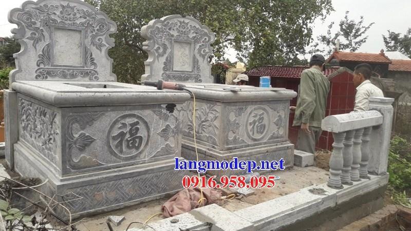 93 Mẫu mộ không mái bằng đá mỹ nghệ Ninh Vân đẹp bán tại Ninh Bình